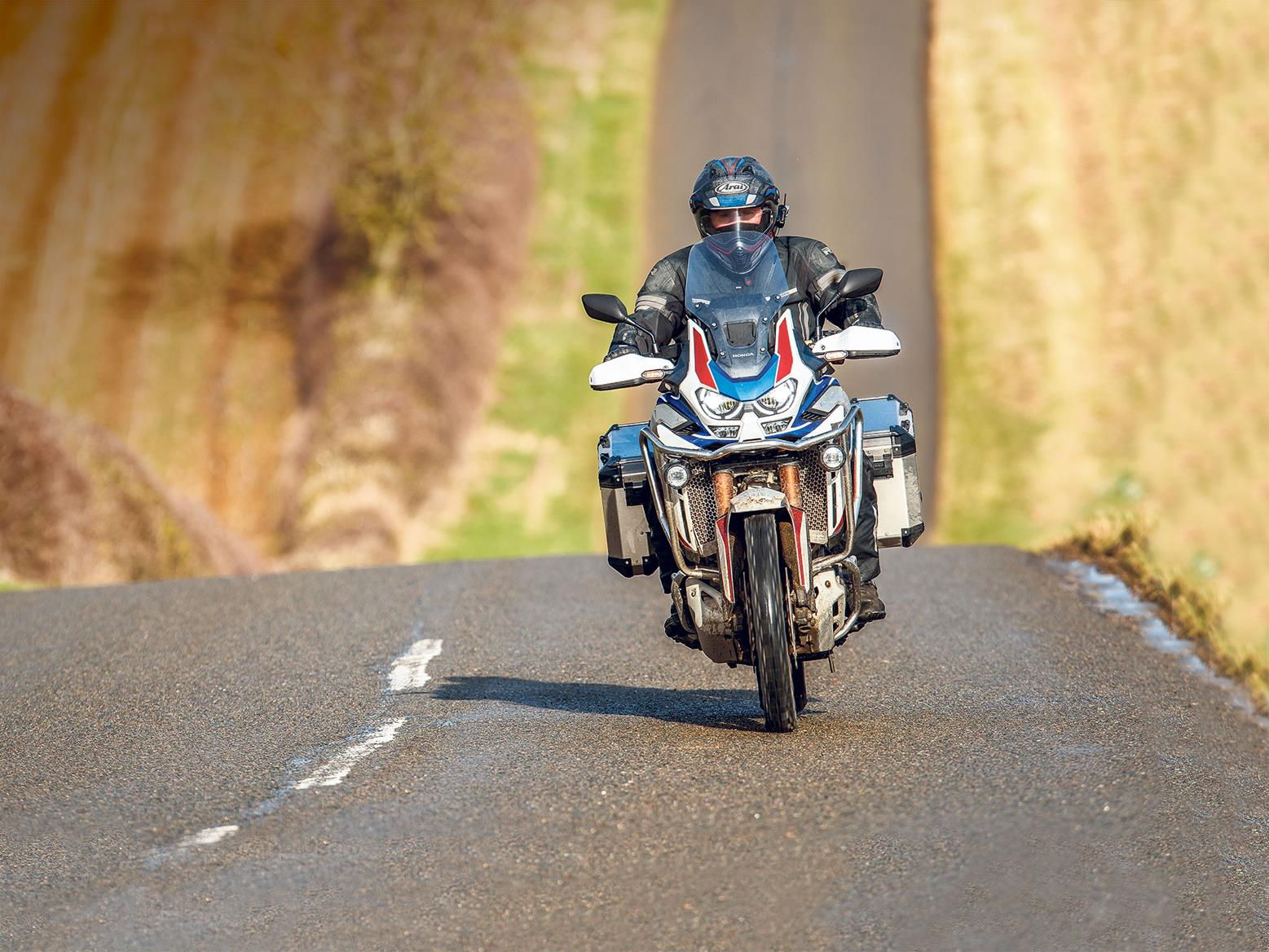 Honda Africa Twin AS ES Plus on the road