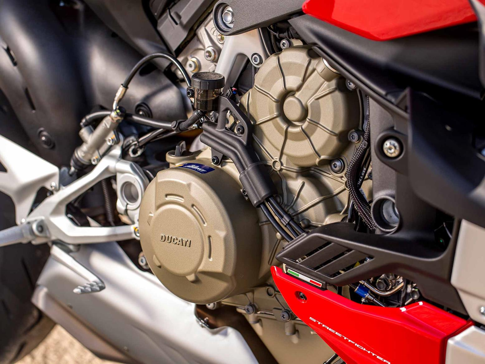 Ducati Streetfighter V4 S engine