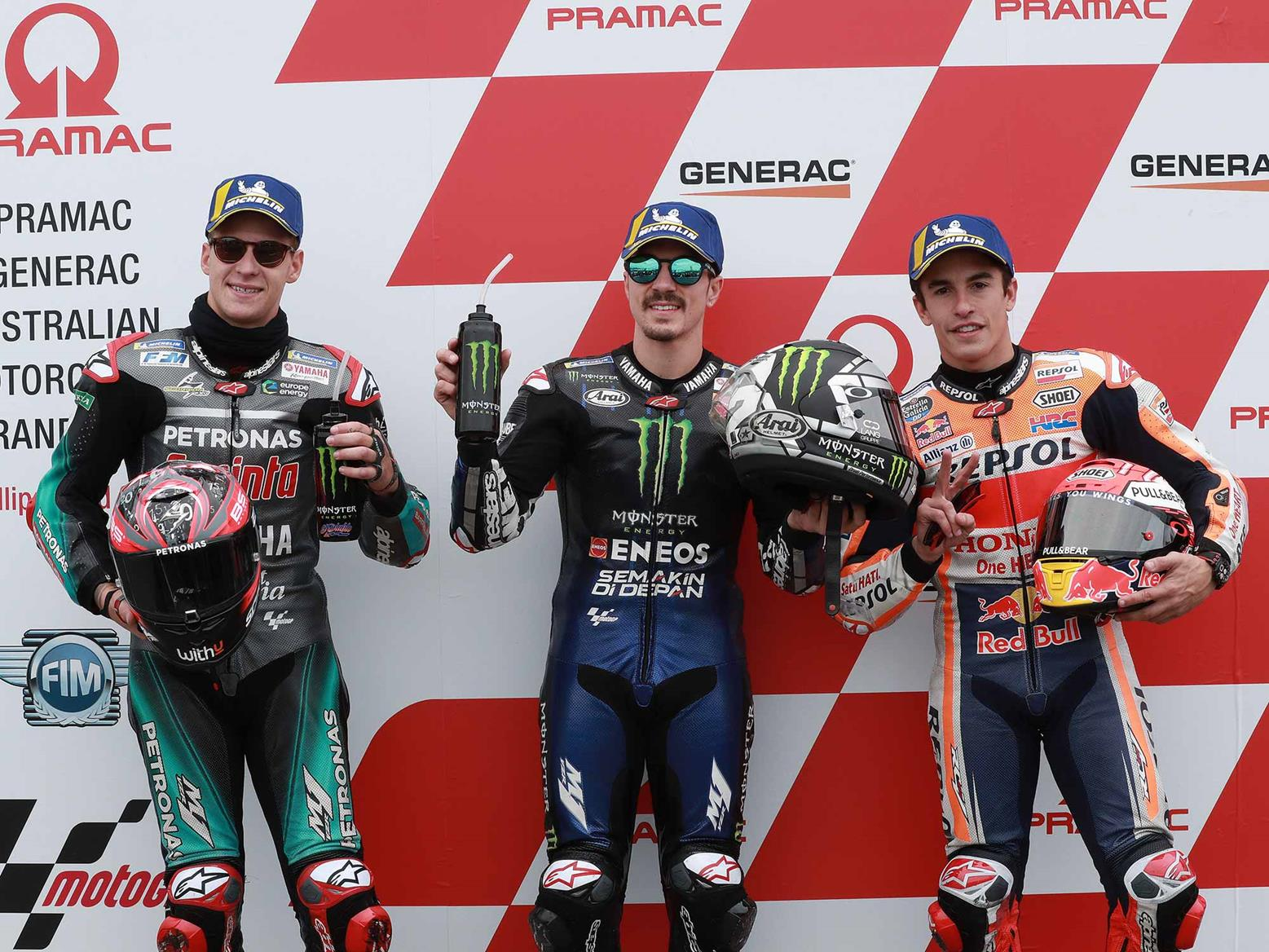 Quartararo, Vinales and Marc Marquez
