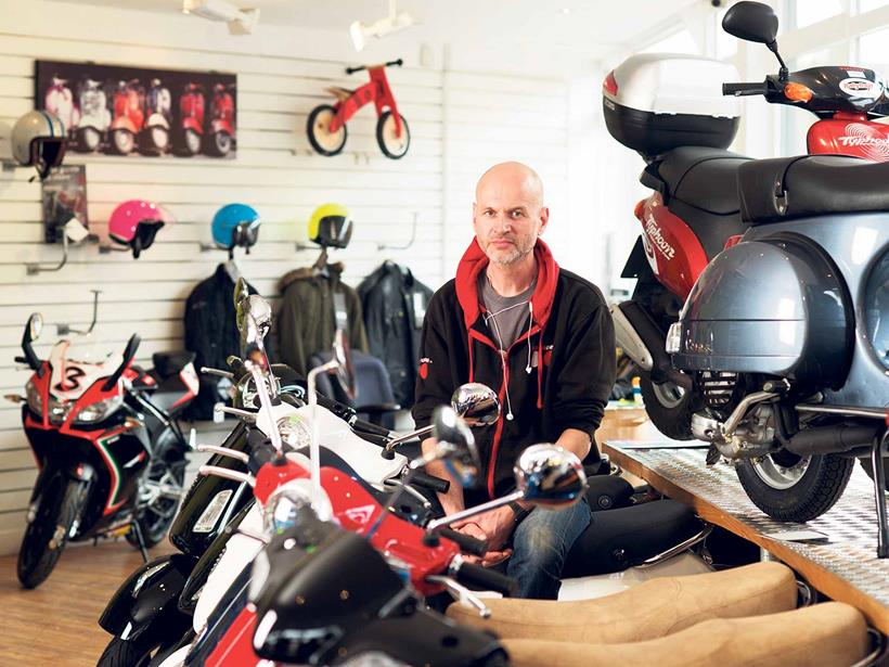 George Dennison owns Hackney's only remaining bike dealer