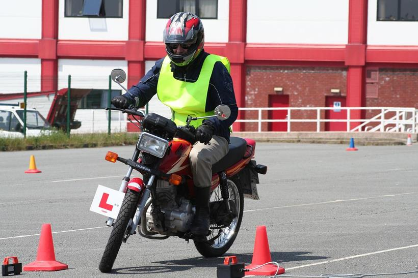 Rider on L-plates