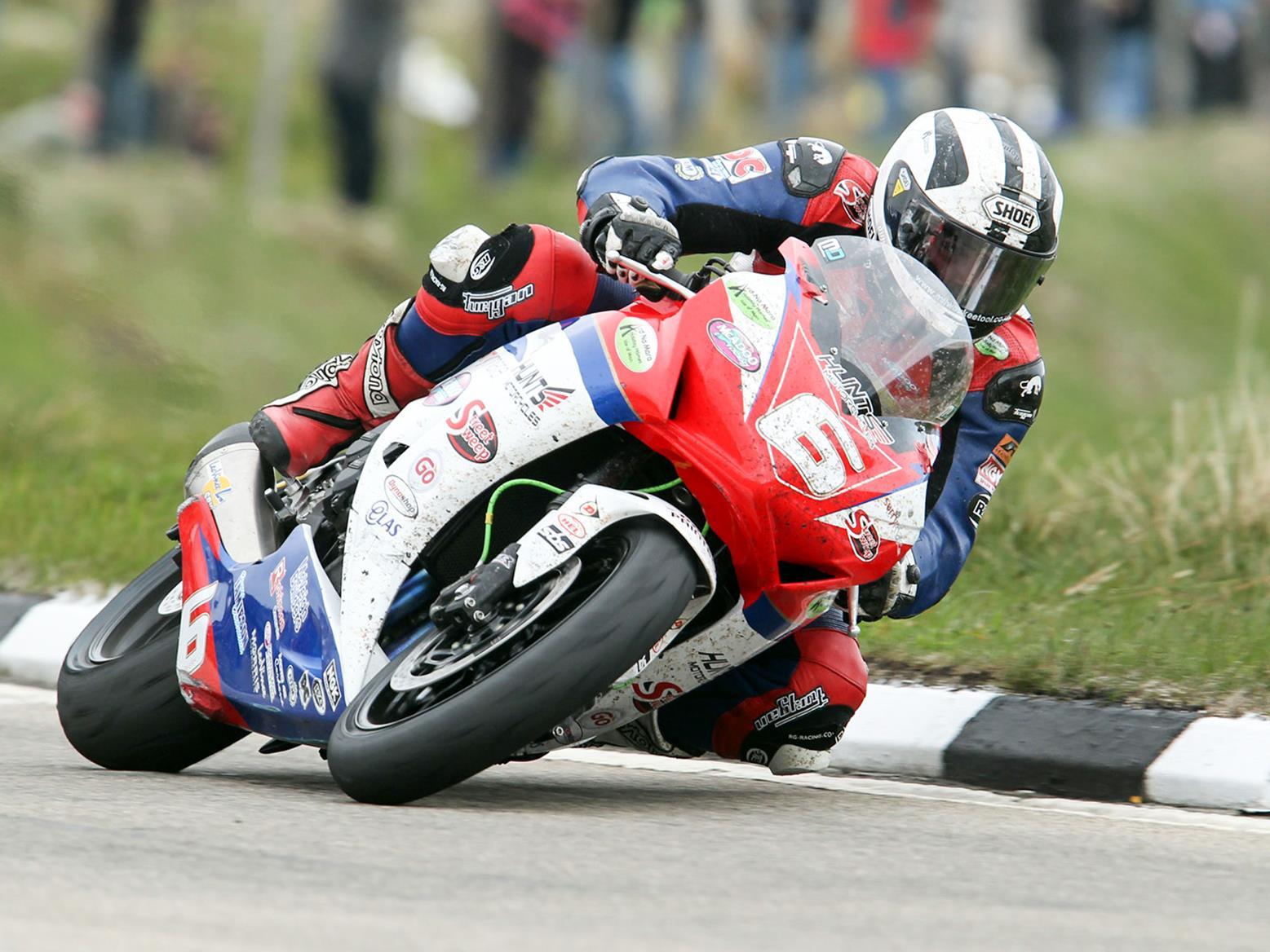 Michael Dunlop in 2013 Superstock TT race