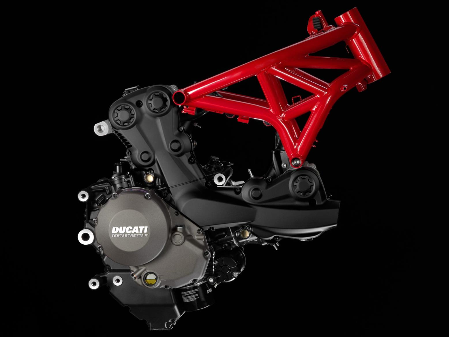 Ducati Monster 1200 trellis frame and engine