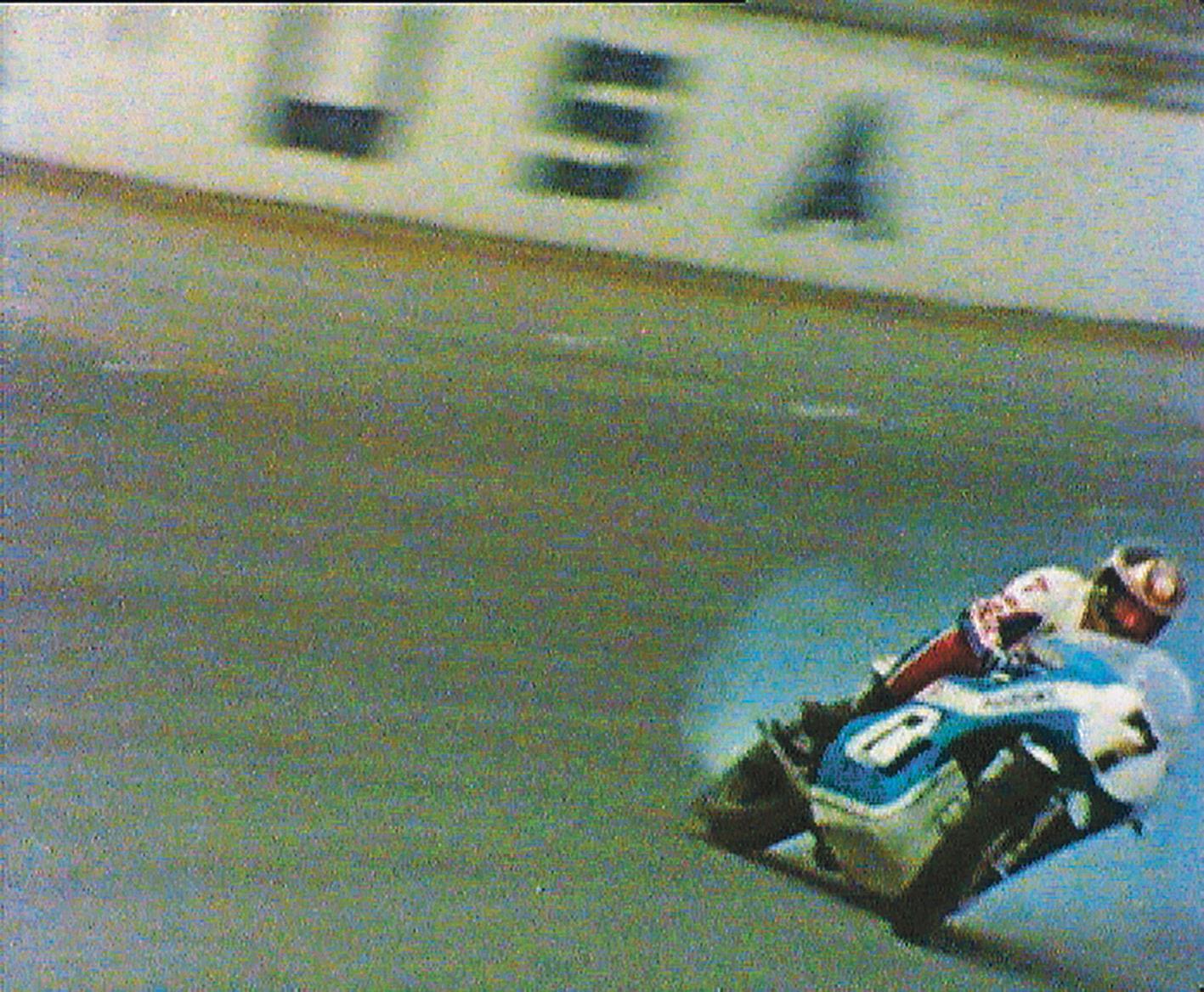 Sheene crash at Daytona