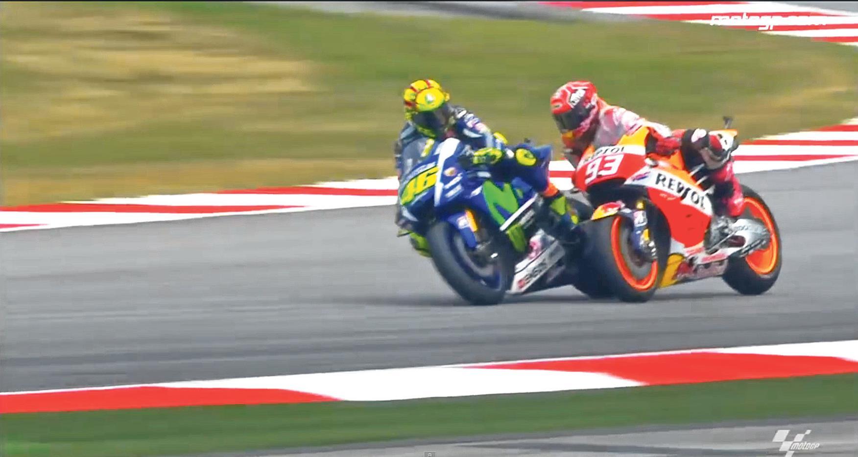 Rossi and Marquez Clash