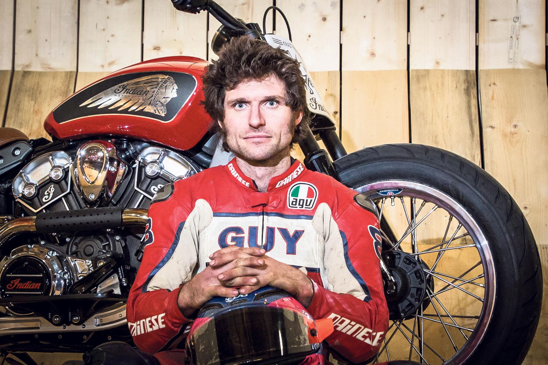 Guy Martin breaks records on the Wall of Death