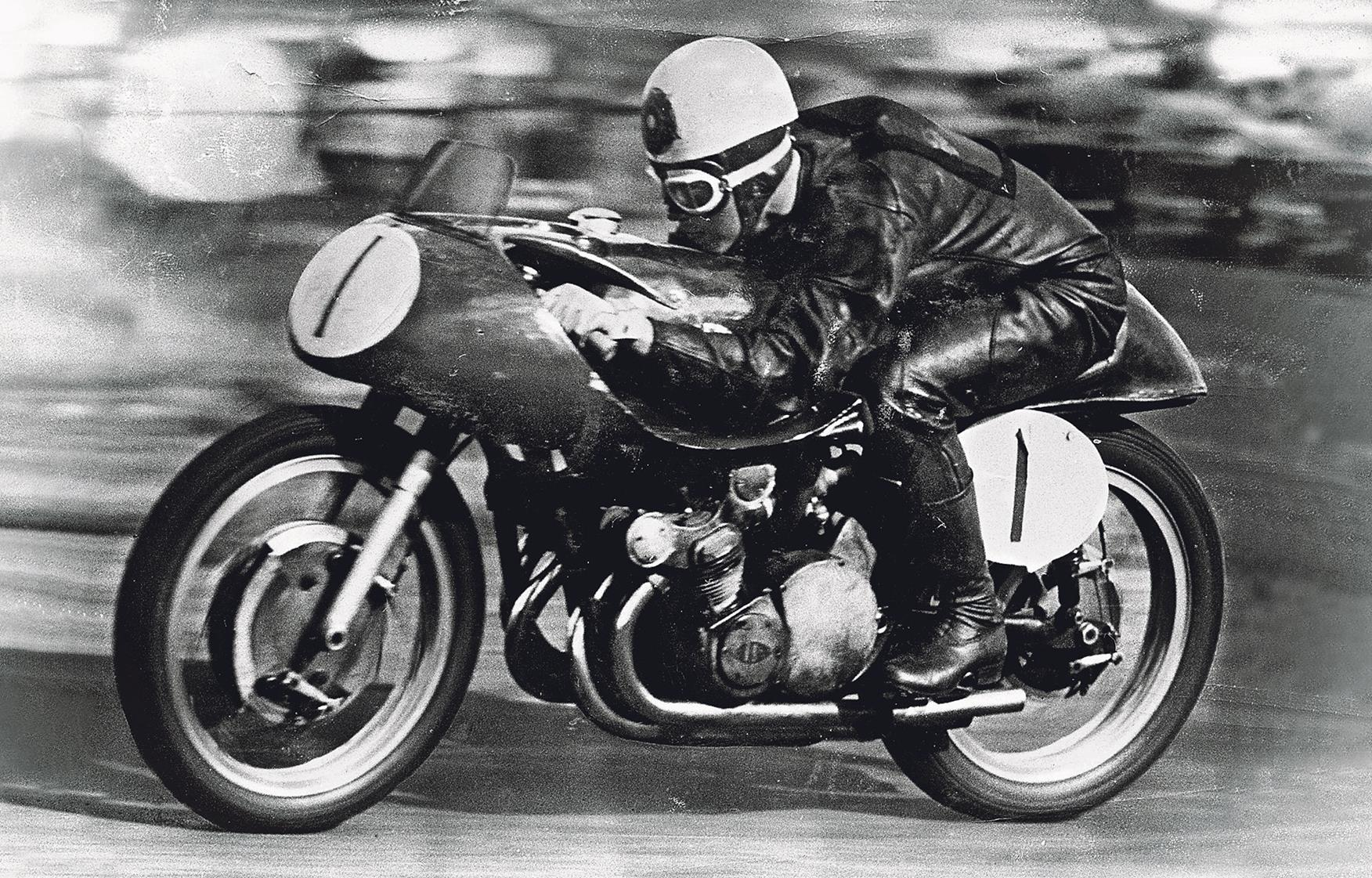 Geoff Duke at the Isle of Man TT, 1955