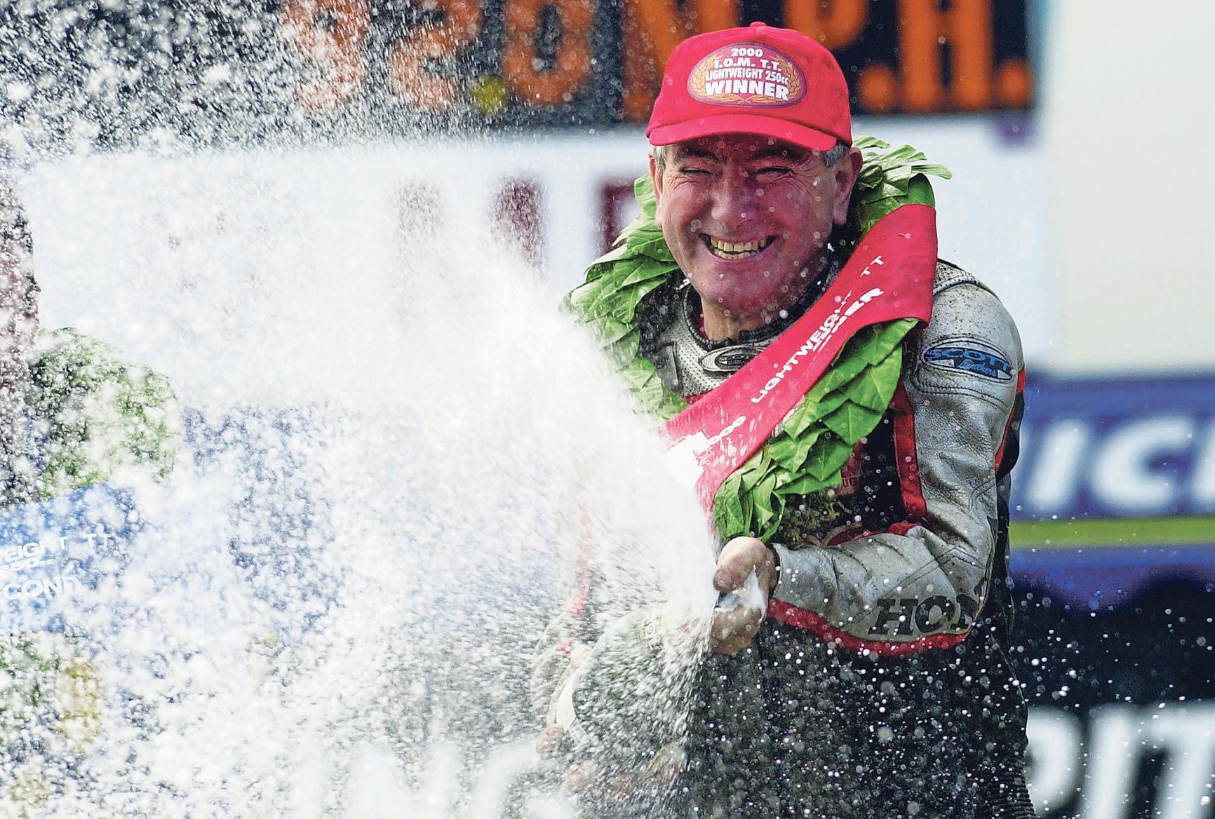 Joey Dunlop wins at the 2000 TT