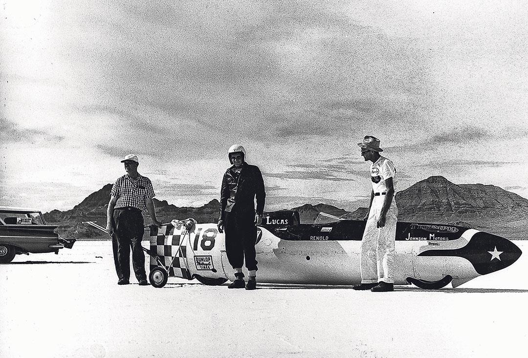 Johnny Allen takes the World Speed Record, 1956