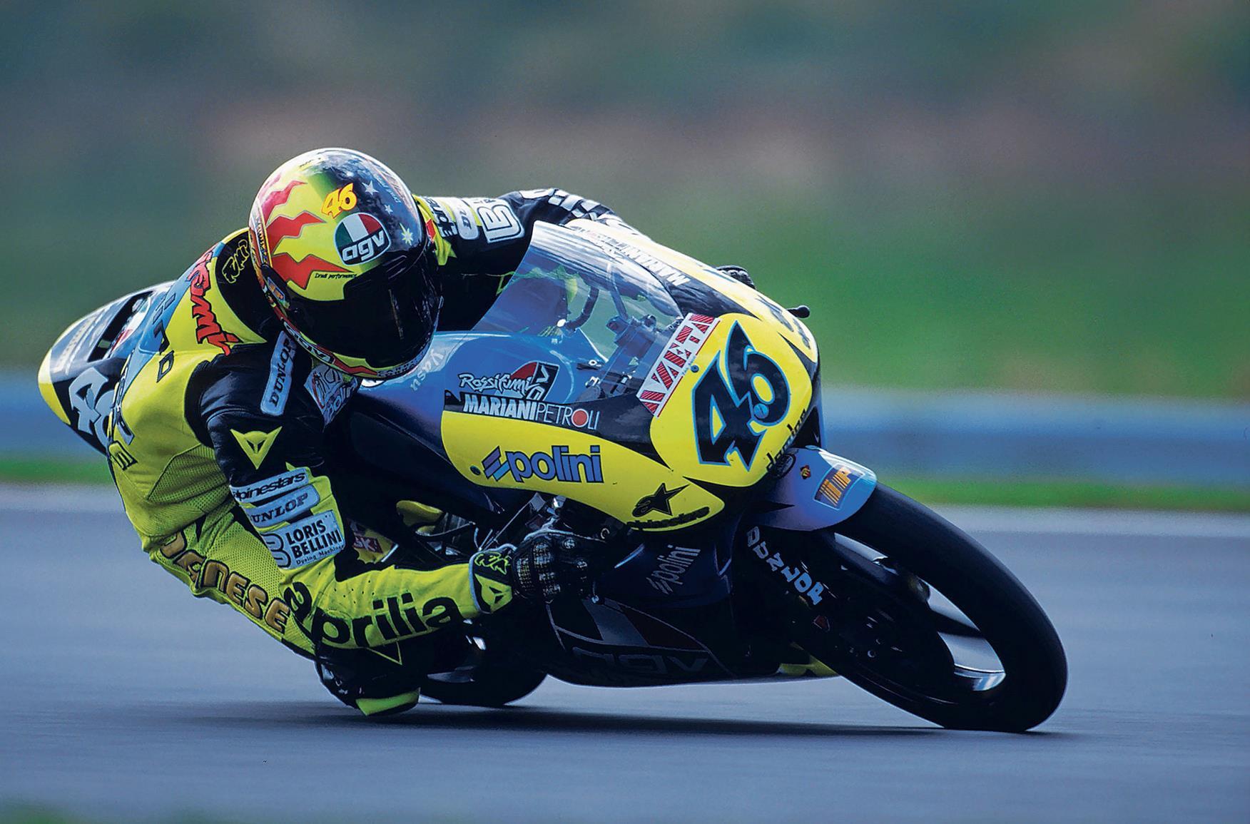 Valentino Rossi's first win in 1996