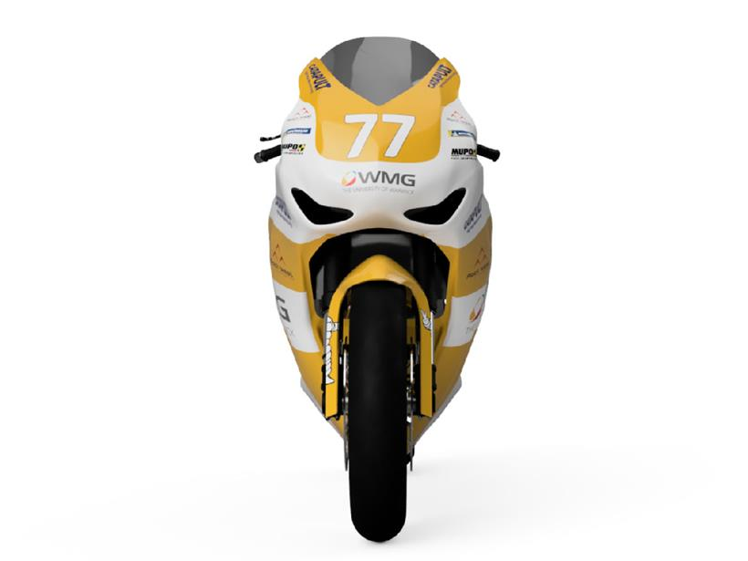 A render of the front of the Aurora superbike