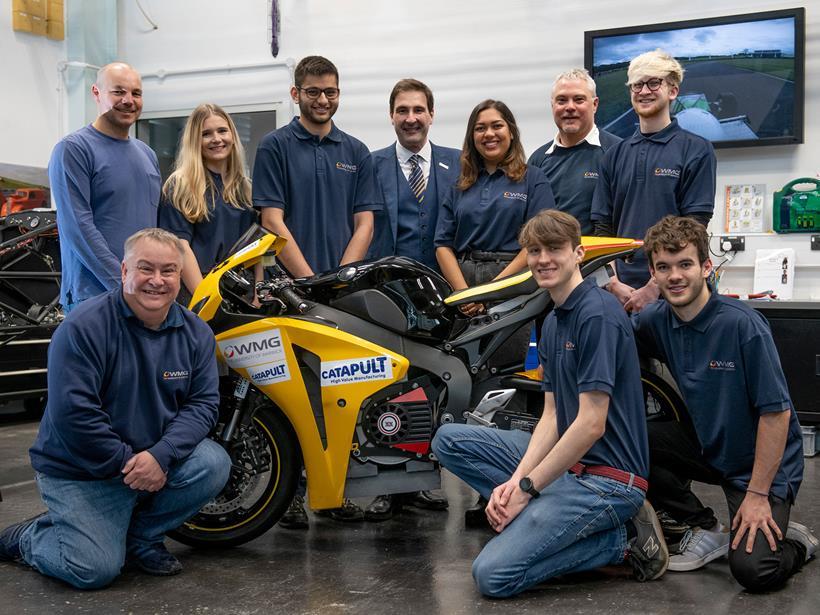 The Warwick Moto team during development