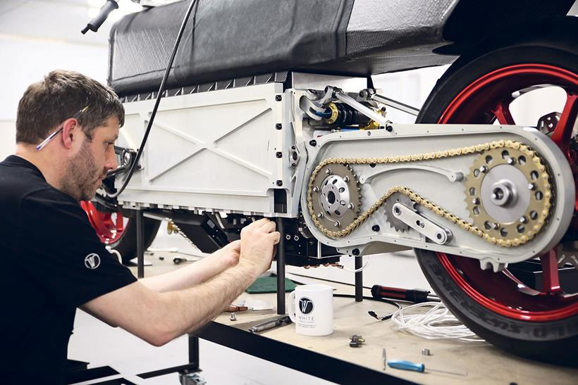 The White concept gets a sealed chain drive