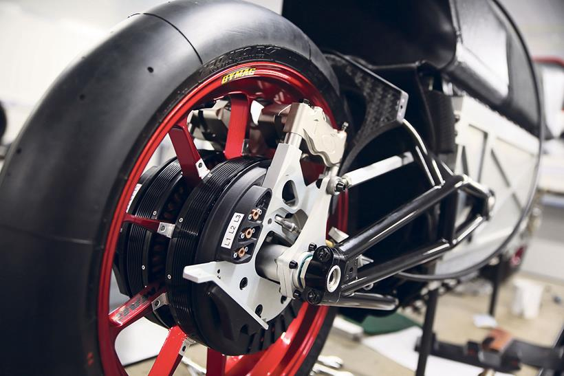 The bike uses two wheel drive for greater traction