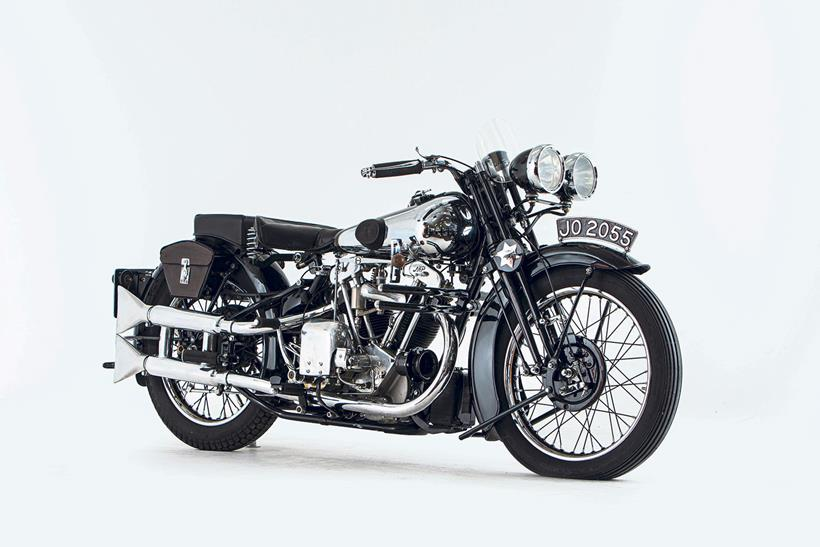 The Black Alpine is from the National Motorcycle Museum