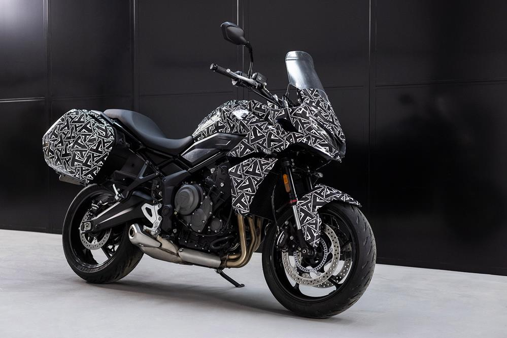 Triumph Tiger Sport 660 with luggage