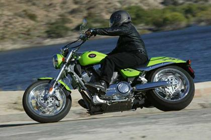 Victory Hammer motorcycle review - Riding