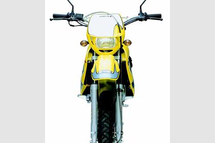 Rieju MRX125 motorcycle review - Front view