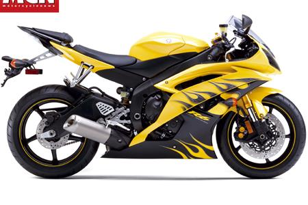 See the American 2008 Yamaha R6 colours