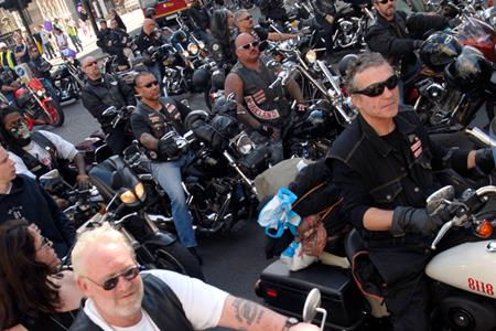 Hells Angels out in force for funeral