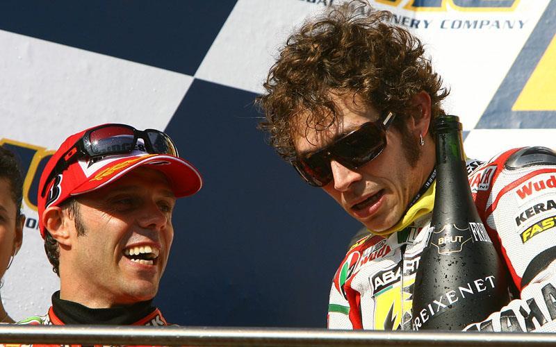 Loris Capirossi is backing Valentino Rossi to be a major force on  Bridgestone tyres 5b6b06828c39