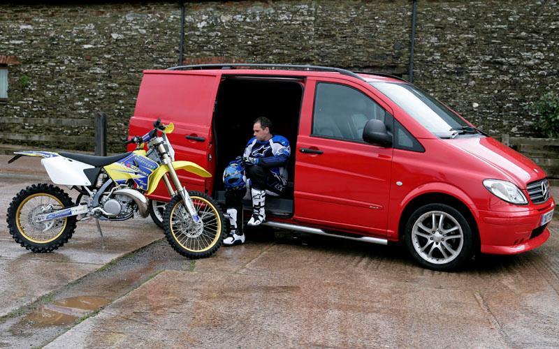 mercedes vito van aimed at motorcycle transport mcn. Black Bedroom Furniture Sets. Home Design Ideas