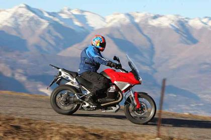 Moto Guzzi Stelvio review action