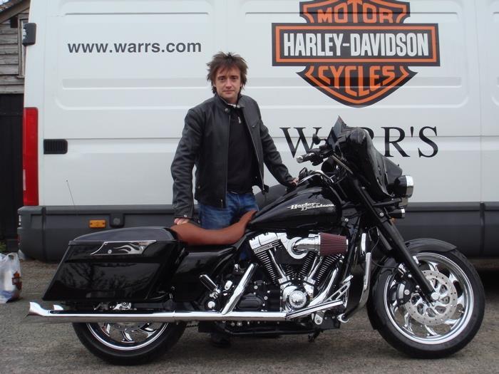 Richard Hammond takes to the road on custom Harley Davidson   MCN