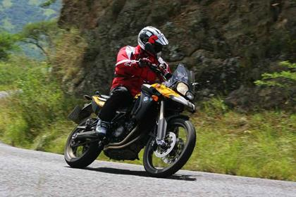 BMW F800GS bike review action