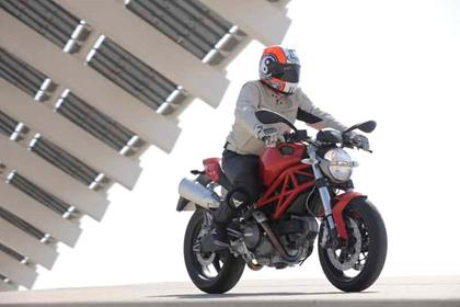 Ducati Monster review action