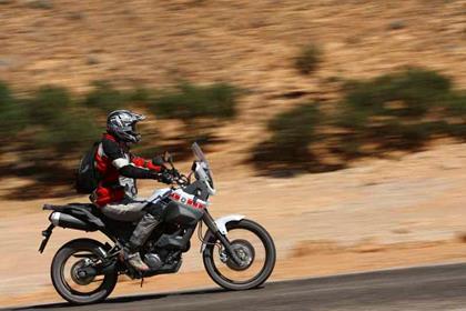 Yamaha XT660Z Tenere action