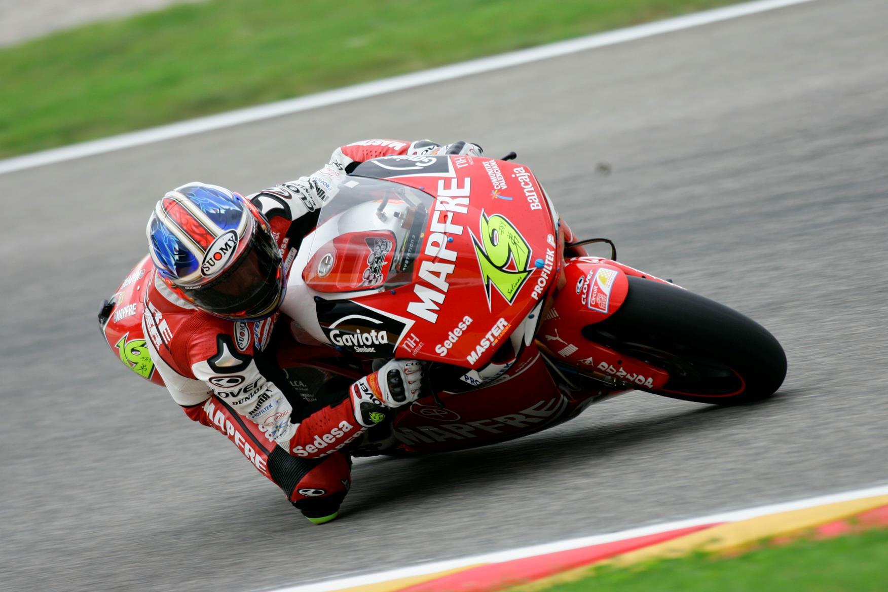 9b1271f7fa Alvaro Bautista set the fastest time in the 250cc free practice session