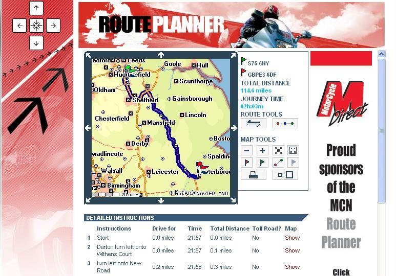 mileage trip planner