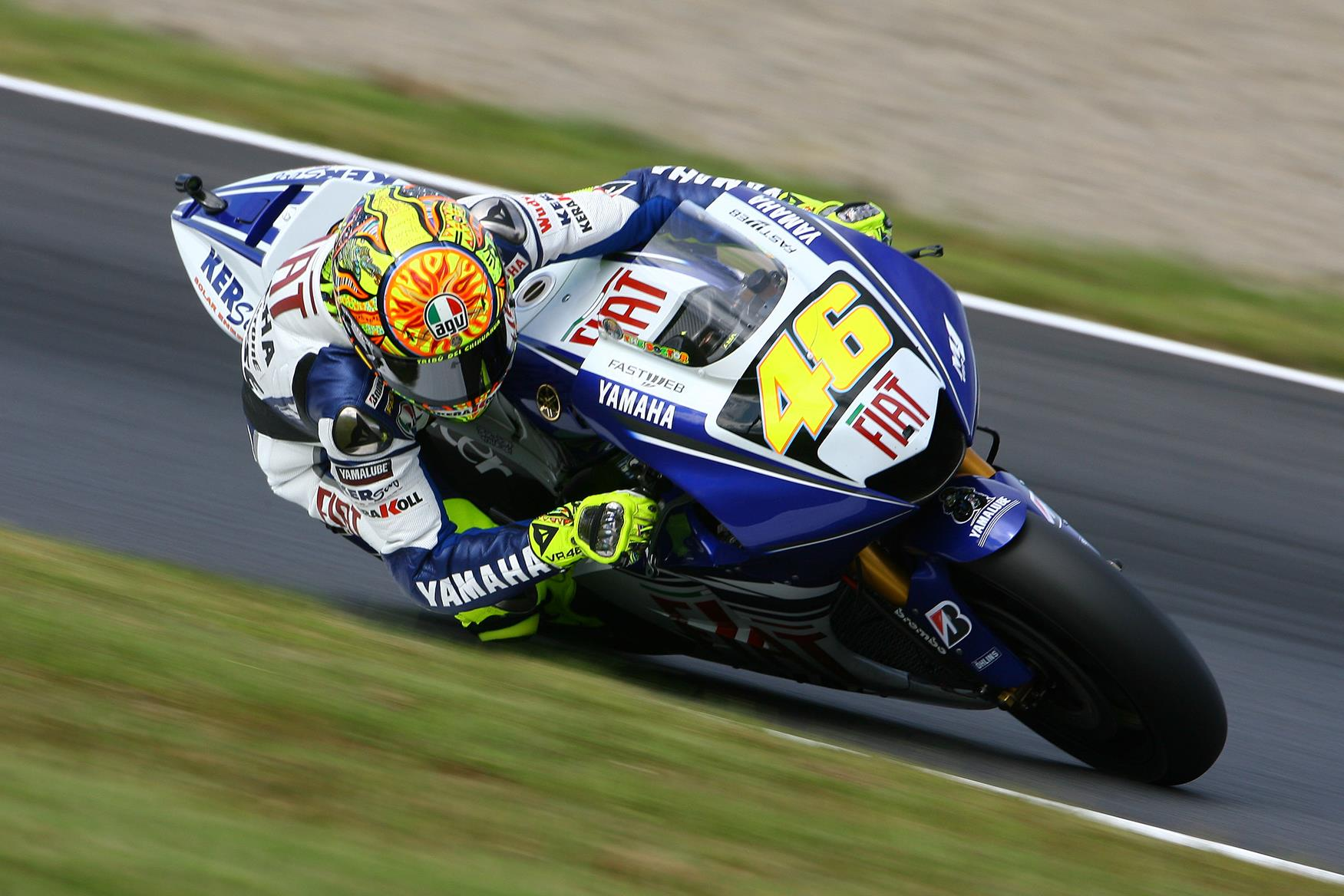 Valentino Rossi was crowned 2008 MotoGP champion at Motegi