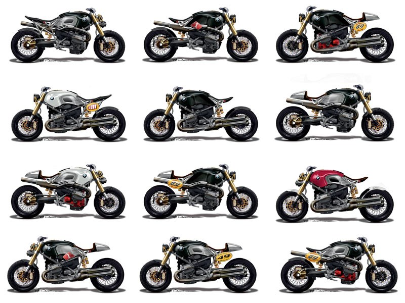 The Day Mcn Rode An Evel Knievel Harley Davidson Xr750 Replica: Official BMW Sketches Show Lo-Rider's Customisation