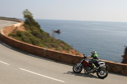 Ducati Monster 1100- at home on a winding coast road