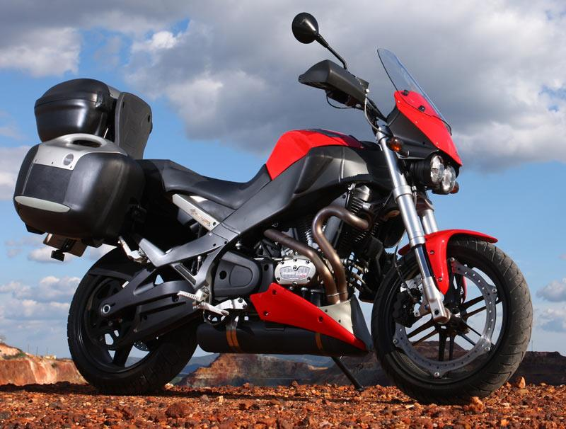 Motorcycle For Tall Riders Buell Ulysses XB12XT - panniers and topbox are standard