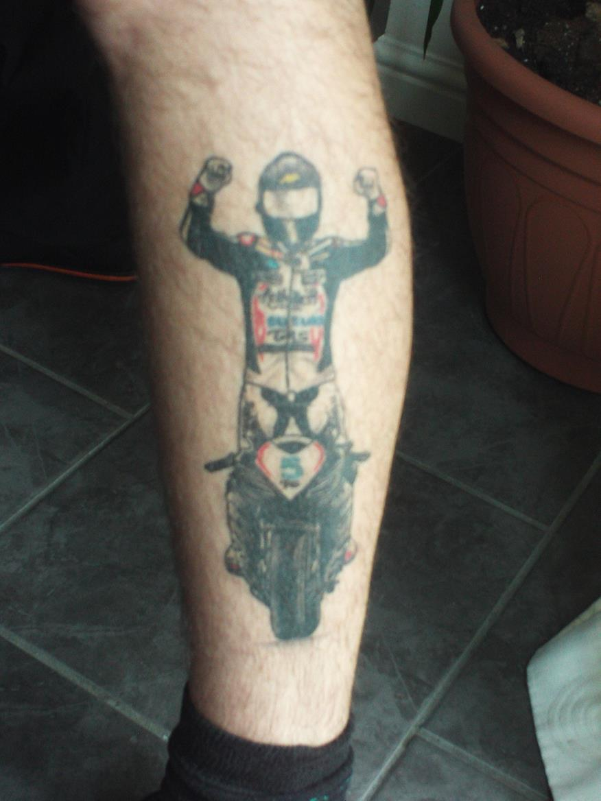 My son's Bruce Anstey tattoo | MCN