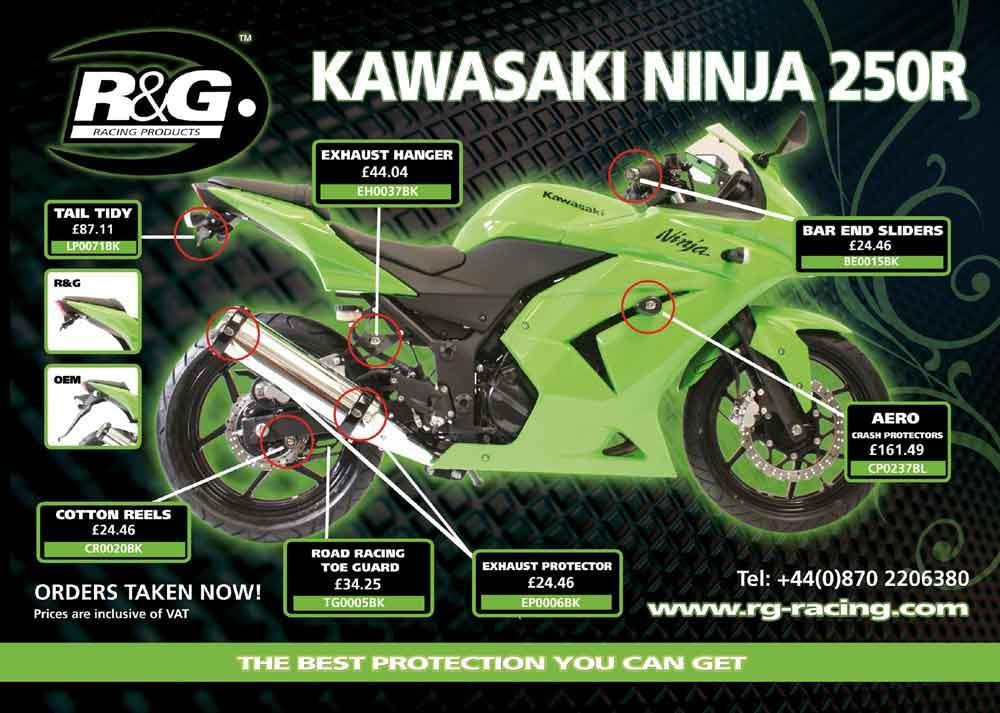 Kawasaki Ninja 250R bolt-ons from R&G | MCN