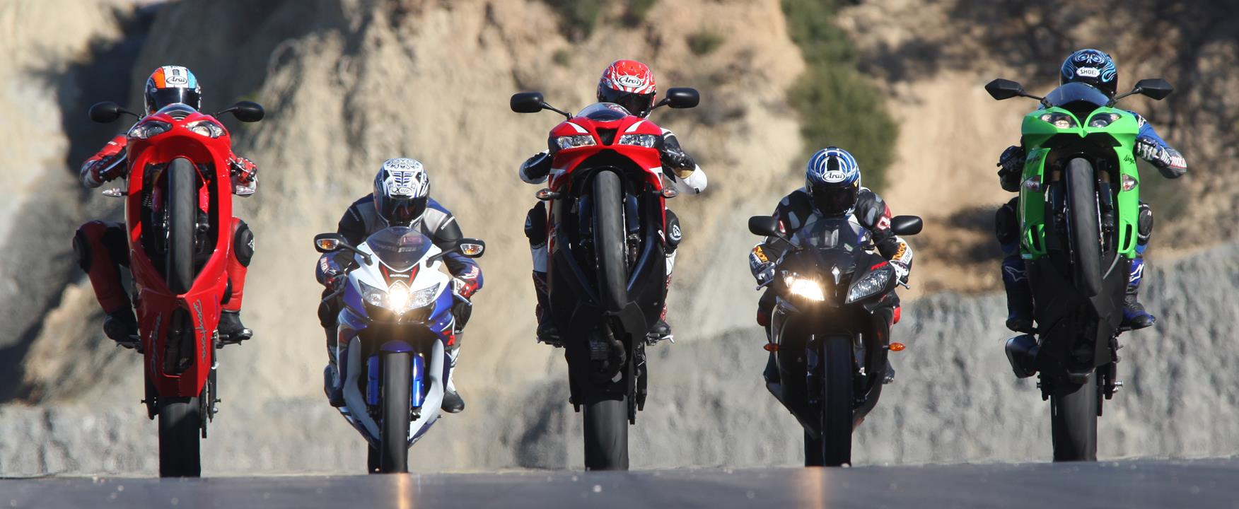 Supersport 600s head to head on track  MCN