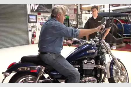 Video Jay Leno Adds A Triumph Thunderbird To His Garage