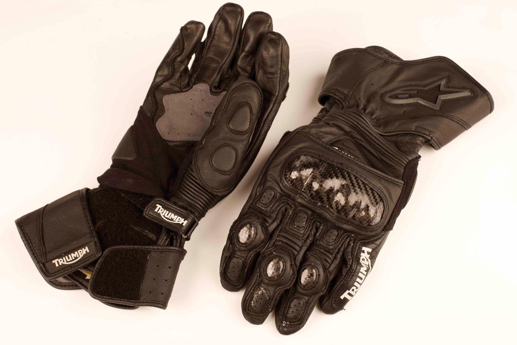 Triumph motorcycle leather gloves - Triumph Motorcycle Leather Gloves 24