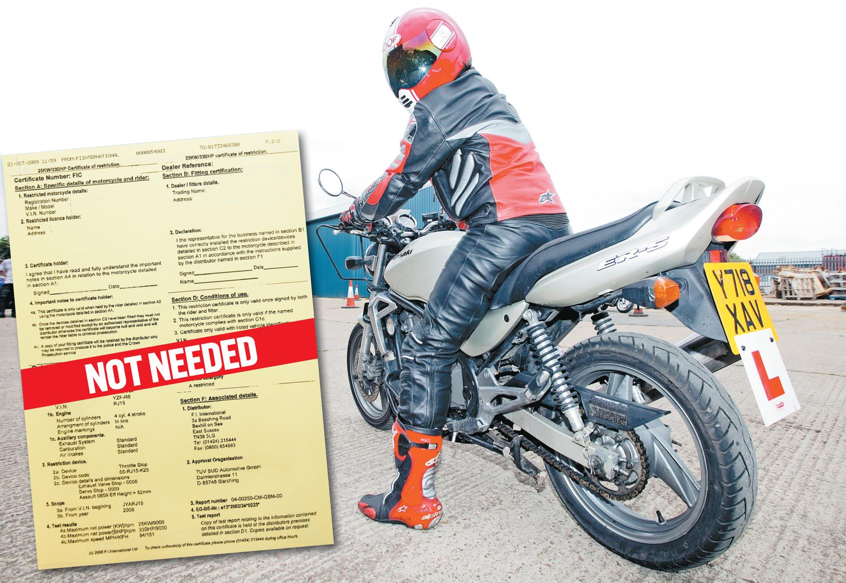 The 33bhp certificate rip off mcn 33bhp certificate rip off 1betcityfo Gallery