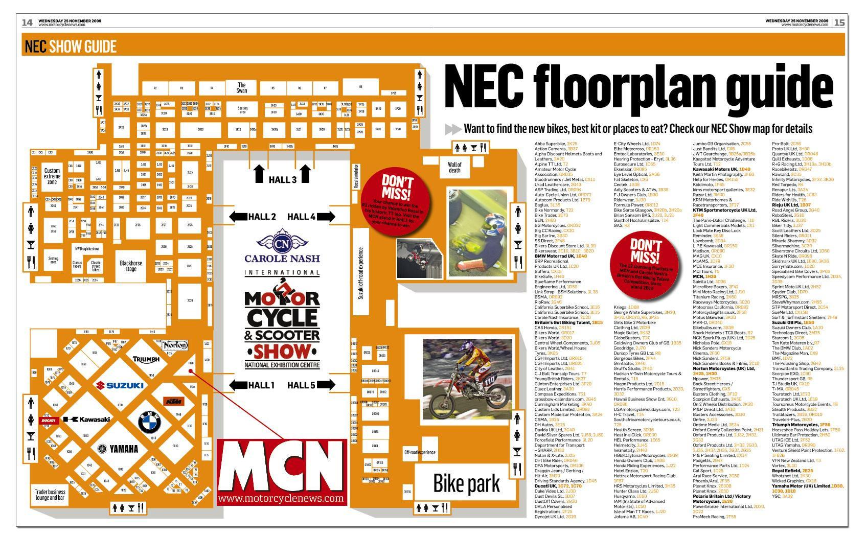 Nec Birmingham Floor Plan Nec Show Map Out Your Route With Mcn S Floor Plan Mcn