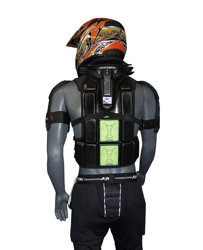 warrior_green_back101 new colours for knox off road safety harness mcn