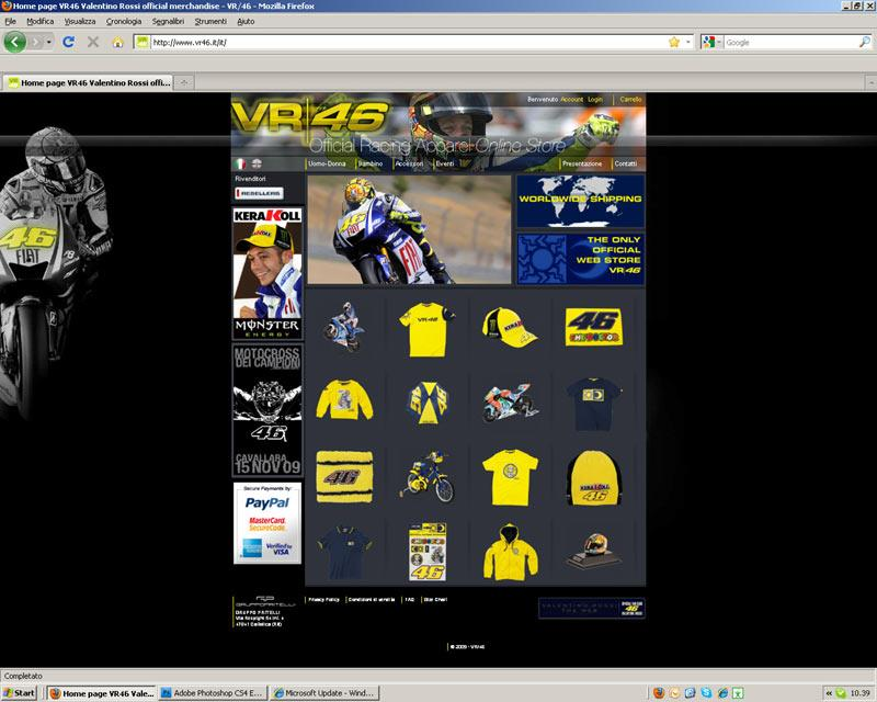 valentino rossi launches merchandise website. Black Bedroom Furniture Sets. Home Design Ideas