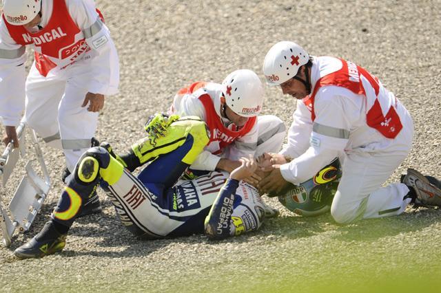 Mugello Motogp Valentino Rossi Breaks Right Leg In