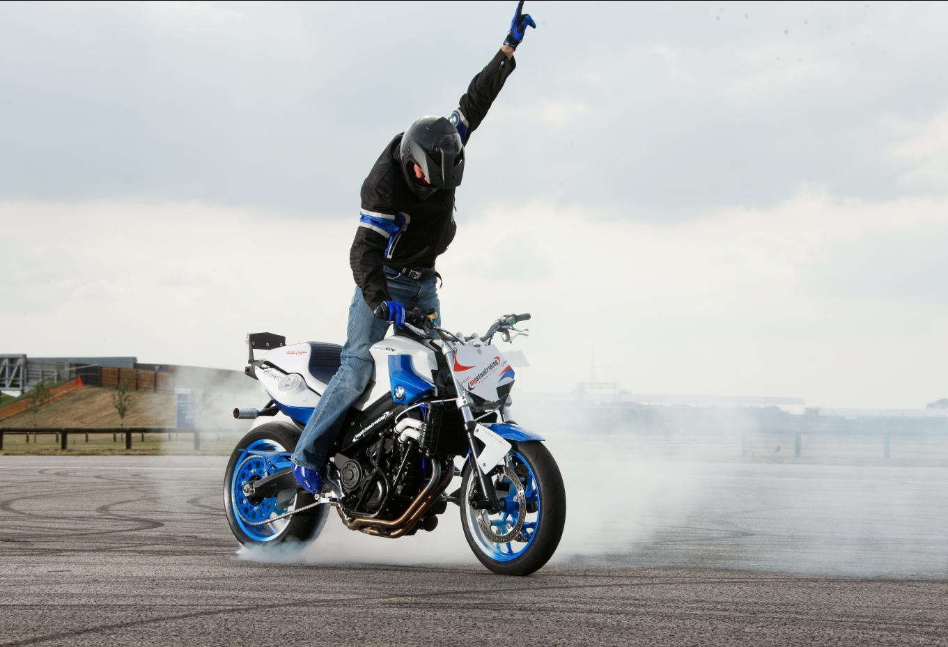 bmw s new stunt rider in action at goodwood this weekend mcn