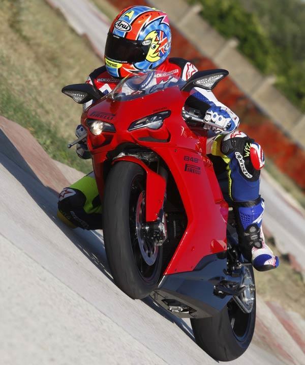 Ducati 848 Evo v Triumph 675 v Yamaha R6 on track  MCN