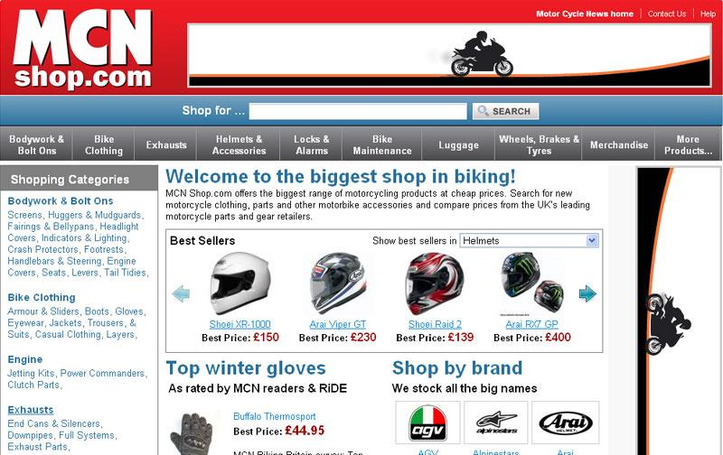 Bike Comparison Website MCN Shop Biggest bike shop